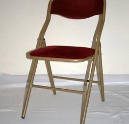 chaise pliante bordeaux  2€ hors tva