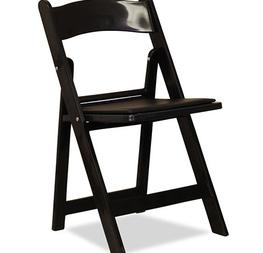 chaise pliante noire résine 2.00€ hors tva