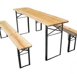 table brasserie 2m/80 6€/htva banc 200/25cm  2.50€/htva