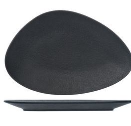 assiette triangulaire noir
